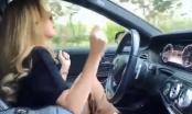 Gác chân và buông hai tay khi lái xe, Hoàng Thùy Linh bị chỉ trích dữ dội