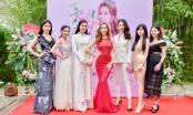 Hoa hậu Ngọc Hân tới chúc mừng Stella Đào trong sự kiện đầu năm