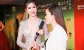 Hoa hậu Loan Vương xinh đẹp, gợi cảm lấn át nữ diễn viên xứ Cảng Thơm