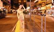 Hoa hậu hàng không Loan Vương mặc áo dài khoe sắc ở Hong Kong