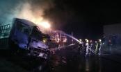 CLIP: Hai người chết cháy trong vụ đâm xe liên hoàn tại Thanh Hóa