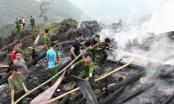 Hà Giang: Lửa thiêu rụi nhà sàn đang được xây dựng làm homestay
