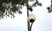 Hà Nội: Đường Võ Chí Công đèn tiếp tục sáng giữa ban ngày