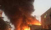 Hiện trường vụ cháy xưởng gỗ tại Hải Phòng