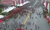 Clip khoảnh khắc máy bay không người lái tấn công tổng thống Venezuela