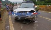 Xe ô tô biển xanh đi lấn làn, tông một người tử vong tại Sơn La