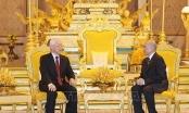 Tổng Bí thư, Chủ tịch nước Nguyễn Phú Trọng hội đàm với Quốc vương Campuchia