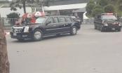 Tổng thống Donald Trump rời khách sạn Marriot ra sân bay
