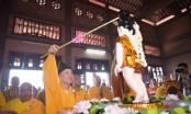 Trang trọng nghi thức tắm Phật và rước xe hoa mừng Đại lễ Vesak 2019