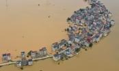 Hình ảnh lũ lụt nghiêm trọng tàn phá nhiều tỉnh thành ở Trung Quốc
