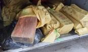 Gỗ sưa, gỗ nghiến lậu chạy về Thủ đô bằng xe khách