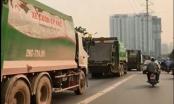 Hà Nội: Xe rác hiên ngang rồng rắn lấn làn xe buýt nhanh khiến giao thông tắc nghẽn