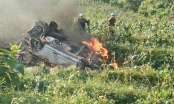 Lào Cai: Ô tô 7 chỗ lao xuống vực, bốc cháy dữ dội