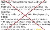 Hà Nội: Nam thanh niên ở Chương Mỹ bị phạt 10 triệu đồng vì tung tin sai về dịch corona