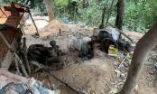 Triệt phá điểm khai thác quặng vàng trái phép ở Quảng Bình