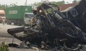 Hải Phòng: 2 xe container tông nhau nổ tung, bốc cháy dữ dội 2 người tử vong