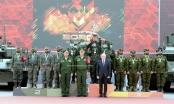 Đội tuyển Xe tăng Việt Nam nhận Huy chương vàng và Cúp vô địch