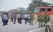 Thực nghiệm hiện trường vụ tai nạn khiến 1 cảnh sát tử vong tại Hà Nội