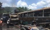 Hỏa hoạn thiêu rụi 12 ô tô trong bãi xe tại TP HCM