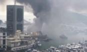 Lửa bất ngờ bùng cháy tại bến tàu khiến 10 du thuyền bị chìm