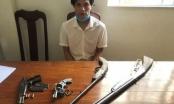Bắt quả tang đối tượng tàng trữ ma túy và 4 khẩu súng trong nhà trọ