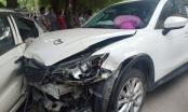 Xe ôtô Mazda mất lái gây tai nạn liên hoàn tại đường 70