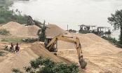 Liên tiếp phát hiện hành vi khai thác trái phép trên sông Hồng, sông Lô