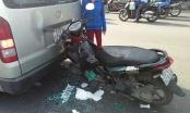 Tin tai nạn giao thông: Xe tay ga biến dạng sau khi hôn đuôi xe du lịch
