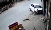 Được chồng dạy lái xe, người phụ nữ đâm nát đầu xe