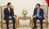Phó Thủ tướng Vương Đình Huệ tiếp lãnh đạo Công ty Shinhan