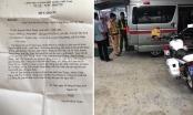 Gia đình cháu bé viết thư cảm ơn CSGT Tây Ninh dùng xe đặc chủng chở đi cấp cứu