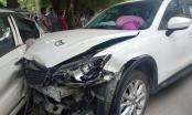 Xem lại clip xe ôtô Mazda tông hàng loạt phương tiện