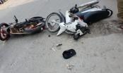 Nam Định: Quái xế chạy xe tốc độ bàn thờ rồi đâm trực diện 2 xe máy đi ngược chiều