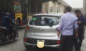 Hà Nội: Ô tô đột nhiên bị bình khí lớn xuyên thủng kính sau khi đang đi trên đường