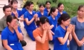 Nghệ An: Hàng chục cô giáo quỳ gối để xin được tiếp tục dạy trẻ