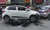 Hà Nội: Huyndai i10 gây tai nạn liên hoàn trên phố Tôn Đức Thắng