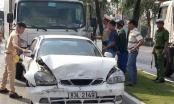 An Giang: Tài xế xe tải ngủ gục, tông vào đuôi 5 ô tô đang chờ đèn đỏ