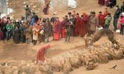 Rùng rợn với nghi lễ an táng người chết ở Tây Tạng