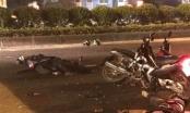 Hà Nội: Đại úy CSCĐ bị xe máy kẹp 3 chạy ngược chiều tông đã tử vong