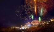 Bắn pháo hoa mừng thành lập thị xã Sa Pa