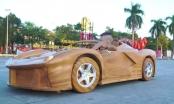 [Clip]: Sửng sốt với chiếc Bugatti Centodieci mini bằng gỗ của anh thợ Việt
