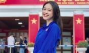 Á khôi Sinh viên Việt Nam tươi xinh trong màu áo Đoàn khi đi bầu cử