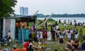 Hà Nội: Phạt chủ quán ở bãi đá sông Hồng vi phạm quy định phòng dịch