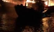 Quảng Bình: Bốn tàu cá của ngư dân bất ngờ cháy rụi trong đêm
