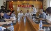 Thứ trưởng Bộ Tư pháp thăm và làm việc với báo Pháp luật Việt Nam, tòa soạn Pháp luật Plus