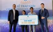 Công ty ALMA trao thưởng 30 triệu đồng tiền mặt cho khách hàng
