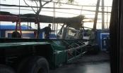 TP HCM: Xe container tông sập tường cảng Nhà Rồng