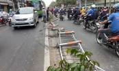 TP HCM: Xe bồn mất lái ủi tung dải phân cách, húc đổ tường rào