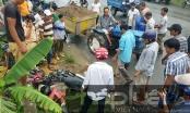 TP HCM: Va chạm với xe máy cày, 1 người bị thương nặng