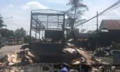 Bình Dương: Xe tải chở giấy bốc cháy ngùn ngụt, tài xế may mắn thoát nạn